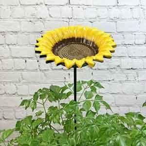 Cast Iron Sunflower Bird Feeder