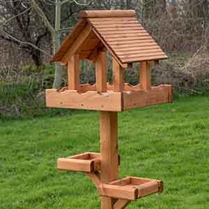 Personalised Triple Platform Bird Table