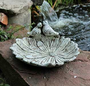 Flower Ground Bird Bath