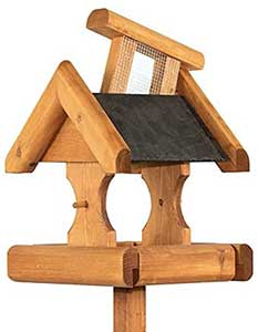 Riverside Woodcraft Verwood Slate Roof Bird Table