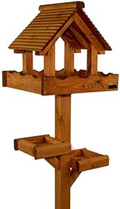 Riverside Woodcraft Triple Platform Bird Table