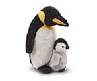 Plush Penguin With Baby