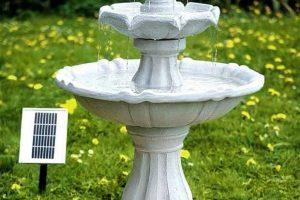 Solar Powered Bird Bath