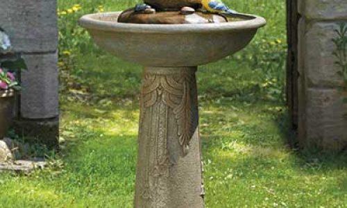 Stone Effect Bird Bath